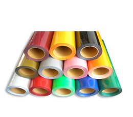 Wholesale 5 sheets x100cm Heat Transfer Vinyl With Sticky Back PU Transfer Vinyl From Colors