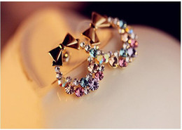 Fashion Accessories Super Sparkling Rhinestone Crystal Earrings for Women long Eardrop Exquisite Earrings