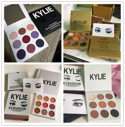 kylie cosmetics 4 style kyshadow style christmas edition +fall collection eyeshadow + bronze kyshadow + burgundy eye shadow palette Kylie j