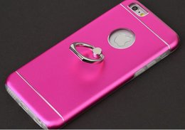 Wholesale New arrival ring holder Metal Wire Drawing cell mobile Motomo cover Case For iPhone plus S S plus Plus