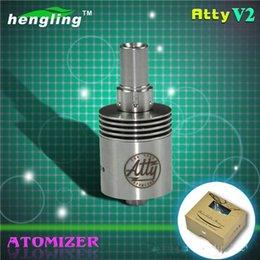 Compra Online Atomizadores al por mayor-Venta al por mayor de alta calidad de acero inoxidable mecánico Tobh Atty V2 goteo atomizador 1: 1 Clone Tobh Atty RBA