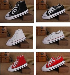 EU size 24-34 New brand kids canvas shoes fashion high - low shoes boys and girls sports canvas shoes and sports children shoes
