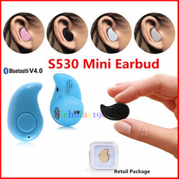 Universal S530 Mini Bluetooth Earphone V4.0+EDR Wireless Bluetooth 3D Stereo Earbud In-Ear Headphone For iphone sumsung LG sony blackberry