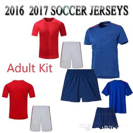 Wholesale Whosales MancHesTer Soccer Jersey Uniteds Soccer Uniforms kit Sets Zlatan Ibrahimovic Martial Thai Quality ROONEY Memphis best