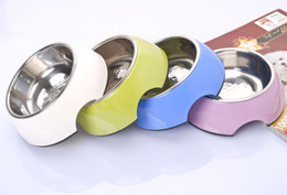 Wholesale Stainless Steel Dog Bowls With Rubber Base Non Skid Classical Food Bowl Water Bowl For All Pets Rust Resistant Dinner Dish Sizes Colors