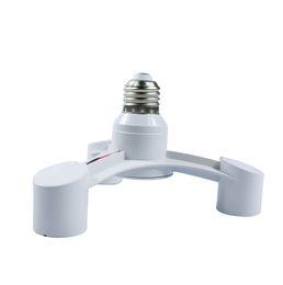 Wholesale High Quality White Color In E27 to E27 LED Lamp Bulbs Socket Splitter Adapter Holder For Photo Studio