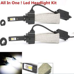 Wholesale 1Set Waterproof W H4 Hi lo k k LM Cree LED Headlights Car Styling Fog Bulbs White automobiles lamps Conversion Kit auto