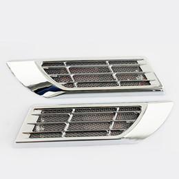 Wholesale New automobile external lights solar energy conversion led emergency lights car vents false air outlet of automobile