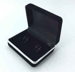 Wholesale 2016 Hot New Promotion Black Velvet Cufflink Box Clip Tie Box Meilleur boîte cadeau Pour Cufflinks Haute Qualité Livraison gratuite