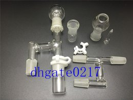 newest 18mm&14mm Oil Reclaimer Glass Adapter for Glass Bongs Water Pipe Comes with glass jar head, and keck clip free shipping