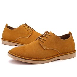 Wholesale Low Key Luxury Quality Cow Suede Martin Oxfords Mens Urban Casual Hand Made Shoes Lace Up Elegant Stylish All Match Spring Autumn New