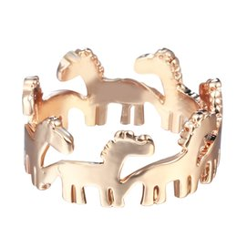 10pcs lot Silver Dala Horse Ring Cute Cartoon Horse in Row Ring,Little Animal Jewelry Free Shipping
