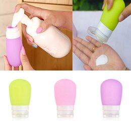 Wholesale Cute Empty Silicone Travel Packing Bottle Press Portable Bottle For Lotion Shampoo Bath Container Makeup Cosmetic Organizer ML Ml ZJ B11