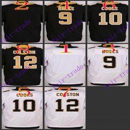 Wholesale NIK Elite Football Stitched Saints Blank Brees Cooks Colston White Black Jerseys Mix Order
