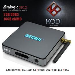 Wholesale 2gb gb S912 TV Box Android marshmallow KODI Box G G WiFi Bluetooth M RGMII LAN Ethernet Unlocked Internet TV Box Mecool BB2