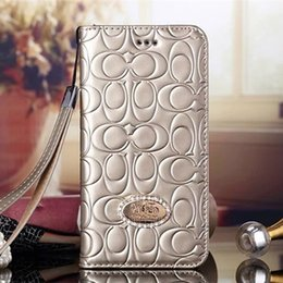 Wholesale Luxury leather wallet Flip cover cell phone case For iphone6 s Plus s c SE Samsung S5 S6 S7 edge Plus Note7 Note5 wallet shell cases