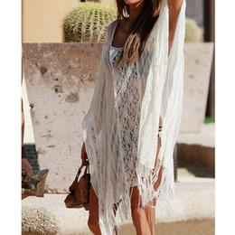 New Sexy Women Beach Cover Up Lace Tassel Kaftan Swimwear Bikini Tunic Beachwear Bathing Suit White GS110