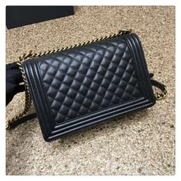Wholesale Classic Le Boy Chain Bag Caviar Fashion Large Flap Bag cm Color Famous Luxury Brand Women Genuine Leather Handbag Original Quality