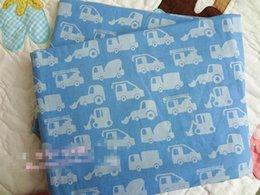 Wholesale Police blue car bedding set children cartoon fire engine patchwork applique embroidery bedclothes without filler