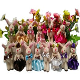 Wholesale-Wedding Lovers Rabbit Puppets 8cm Hand Puppet Dolls Toys 10 Male Rabbit+ 10 Female Rabbit Free Shipping
