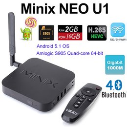 Wholesale Original MINIX NEO U1 NEO A2 lite air mouse Android TV Box Amlogic S905 Quad Core G G ac GHz WiFi H HEVC K HD XBMC IPTV