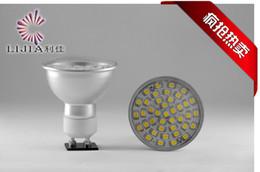 DHL FedEX free shipping 50pcs Aluminum LED SMD Spotlight 220V GU10 2835 7W LED bulbs corn light warm white