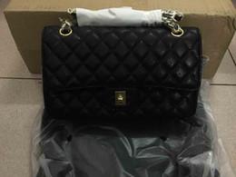 2016 lady's genuine leather flap bag,25cm,medium size,111-2,high quality lambskin caviar patent leather,good price