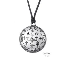 Wholesale Myshape Wiccan Pendant Necklaces Gothic Sigil of Archangel Uriel Enochian Talisman Amulet Angel Necklace Gift for Man Woman