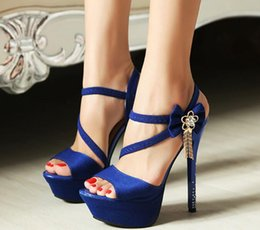New summer sandals female high-heeled shoes with waterproof nightclub sexy fine diamond ultra high heel sandals