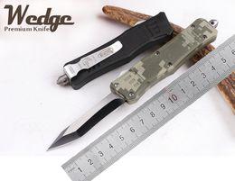 6.3cm Wedge Tanto Lame Petit MICROTECH Troodon en alliage de zinc Poignée Micro Outils de coupe 616 bord unique Curve Lame de couteau de chasse tactique à partir de outil de coupe incurvée fabricateur