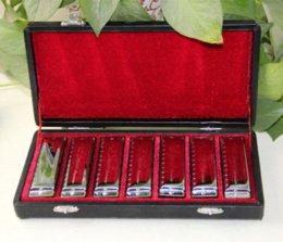 Harmonica SWAN Bluesband 7 Piece Blues Harp Harmonica diatonique vente par Set Case + lingettes harmonica professionnel à partir de harmonica diatonique c cygne fournisseurs