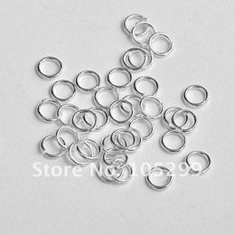 Wholesale MM Sterling Silver Open Jump Ring Silver Components DIY Jewelry silver findings opening rings