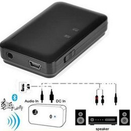 Wholesale Bluetooth Music Receiver mm USB Wireless Stereo Audio Music Adapter For iPod iPhone Phone Tablet PC Portable