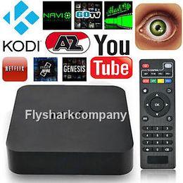 Wholesale 1PCS MXQ Android Smart TV Box Amlogic Quad Core Wifi Twitter Facebook H Netflix Kodi Google Play Fully loaded Media Box For TV