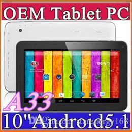 """Dhl de la tableta de 8 gb en venta-DHL 1 GB de RAM de 8 GB ROM 1.2GHz Quad Core de Allwinner A33 del androide 5.1 Lollipop de doble cámara de 10 pulgadas 10 """"Tablet PC Bluetooth USB OTG NUEVO B-10PB"""