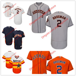 Wholesale 2 Alex Bregman Jersey MLB Baseball Houston Astros Jerseys Flexbase Red Black Grey White Cream size XL XL