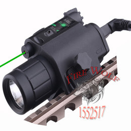 Wholesale Hunting Optics Tactical LED Pistol Flashlight Green Laser Combo Handgun Sight Lumens Light Fit with Mode Switch