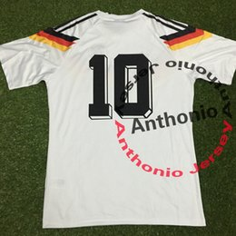 Wholesale 1990 Germany RETRO VINTAGE CLASSIC soccer jerseys thai quality soccer jersey thailand football shirts kit