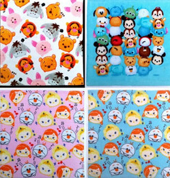 Wholesale-New 20 pcs Popular Cartoon Tsum Cotton Cartoon Printing Towels For Best Gift EZ-14