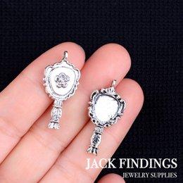 Wholesale 18pcs X24mm Antique Tibetan Silver Charms Bracelet Necklace Pendant New Fashion Mirror