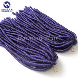 Descuento rastas tejen (1 paquete / porción) El pelo púrpura suave del pelo del ganchillo del pelo de la torcedura de Dreadlocks del envío 18inch 110gram de la púrpura del envío púrpura bloquea la armadura