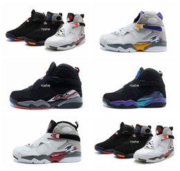 Wholesale 2016 High Quality Retro VIII Aqua Bugs Bunny Phoenix Playoffs Men Womens Basketball Shoes Brand New Athletic Sport Sneakers J8