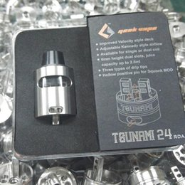 Wholesale Lowest Price Tsunami RDA Glass Window Clone E Cigarette Geekvape Tsunami Glass Window RDA Velocity Style Build Deck Vape Mod Atomizer