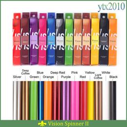Wholesale Vision Spinner II colors mah Electronic Cigarettes Ego Twist V V Vision Spinner Ecigs For E cigarette Vape Pen