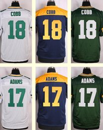 Wholesale 2016 New Men s Randall Cobb Davante Adams White Green Blue Top Quality jerseys Drop Shipping
