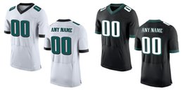 Wholesale HOT SALE Men s Eagles Custom Elite Football Jerseys High Quality Stitched Any Name and Number You Decide Three Colors Allowed