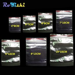 Wholesale 100pcs Plastic Ziplock Bags Seal Bags Reclosable Zipper Bags Kinds Of Size Clear