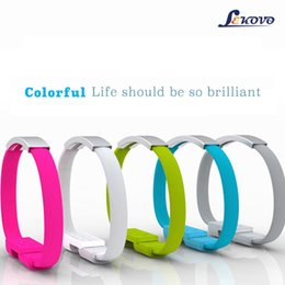 Wholesale Andrews universal bracelet data line Apple phone noodle data line creative gifts