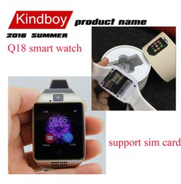 Wholesale 2016 NFC Smart watch Q18 HD inch Touch Screen Camera smartwatch support SIM TF Card for IOS and Android HTC phone VS APRO Q18S