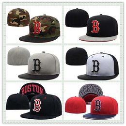 Hot Sale Boston Fitted Hat For Men Red Women Sports Hat Summer Cotton Baseball Cap Mix Order Football Basketabll Snapback